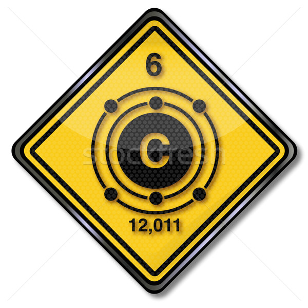 Sign chemistry character carbon  Stock photo © Ustofre9
