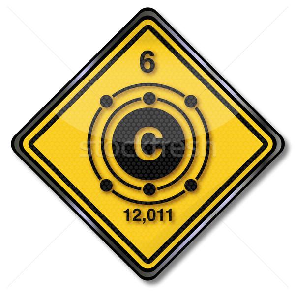 Teken chemie karakter koolstof leven borden Stockfoto © Ustofre9