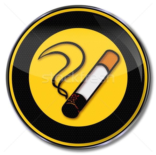 Teken sigaret tabak roken brand rook Stockfoto © Ustofre9