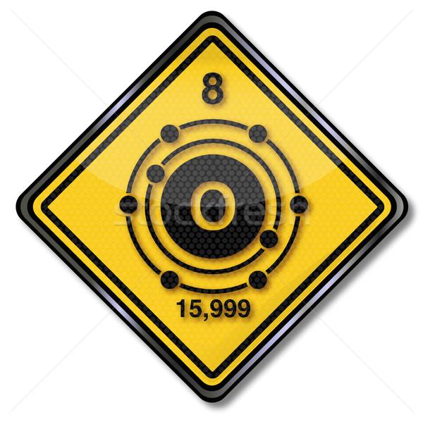 Sign chemistry character Oxygen Stock photo © Ustofre9