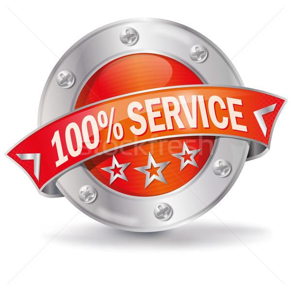 Button 100% service  Stock photo © Ustofre9