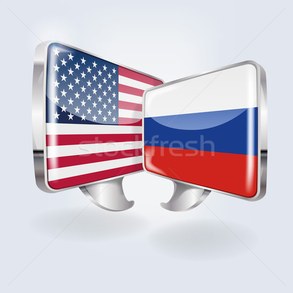 Bubbles with USA and Russia  Stock photo © Ustofre9