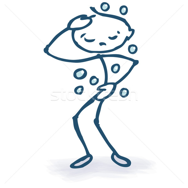 Stock photo: Stick figure with pain