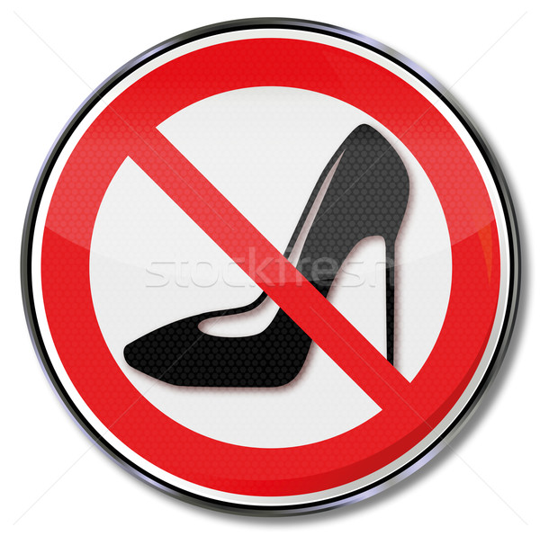 Prohibition sign for heeled shoes  Stock photo © Ustofre9