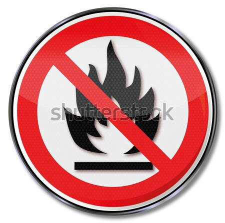 Sign with do not throw burning objects into the dustbin Stock photo © Ustofre9