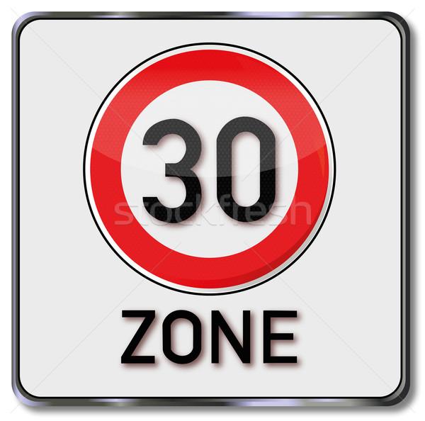Signo 30 calle velocidad tráfico signos Foto stock © Ustofre9