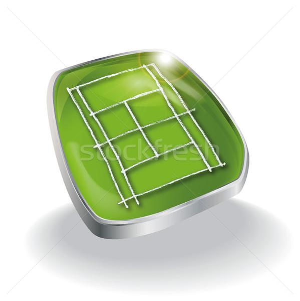 Button grass tennis court Stock photo © Ustofre9