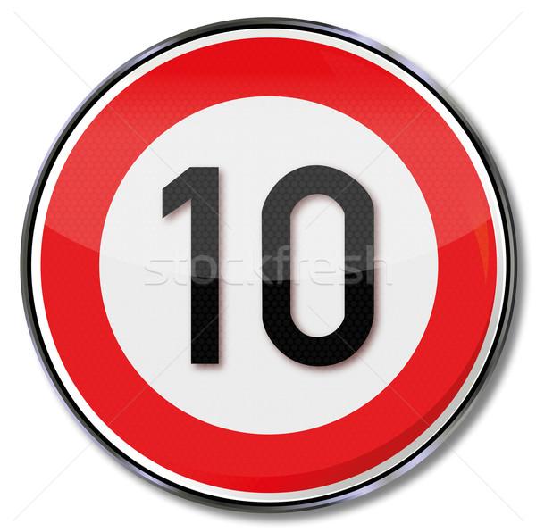 交通標識 10 通り にログイン トラフィック 標識 ストックフォト © Ustofre9