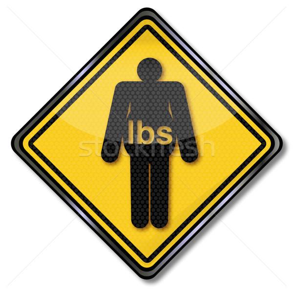 Zeichen Übergewicht Fettleibigkeit Schönheit Recht Zeichen Stock foto © Ustofre9