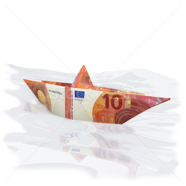 Little paper boat with new 10 euros  Stock photo © Ustofre9