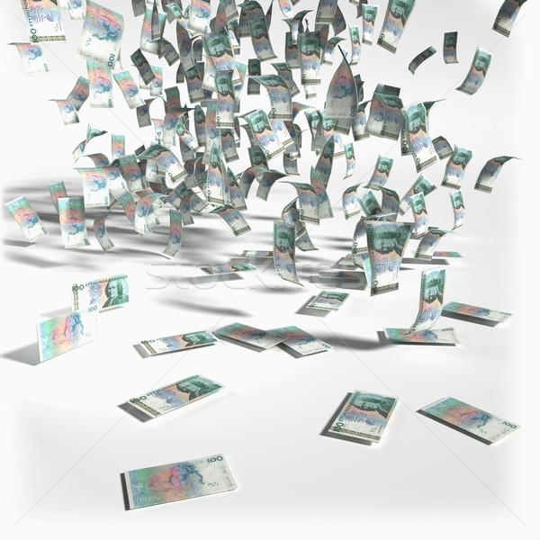 Geld regen 100 bank kroon Stockfoto © Ustofre9