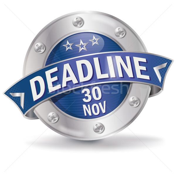 Button deadline November 30th Stock photo © Ustofre9