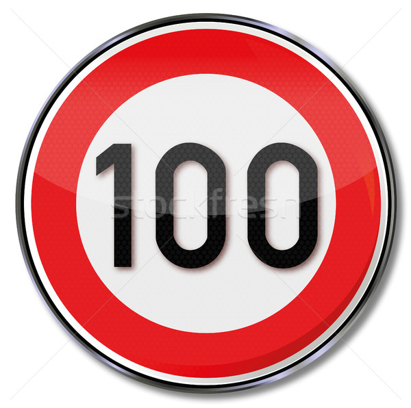 Traffic sign  100 kmh speed limit Stock photo © Ustofre9