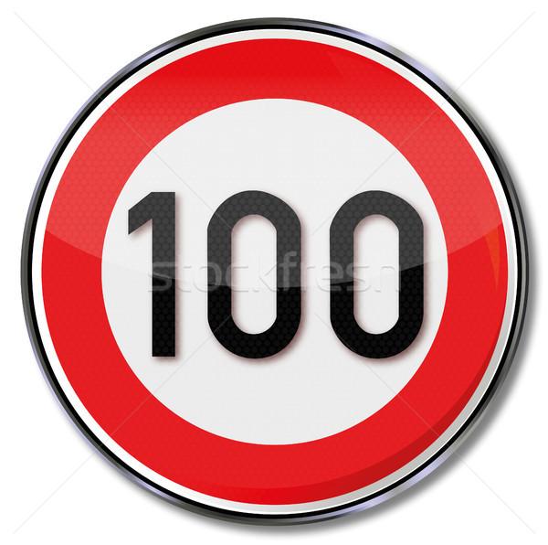 交通標識 100 制限速度 車 道路 法 ストックフォト © Ustofre9