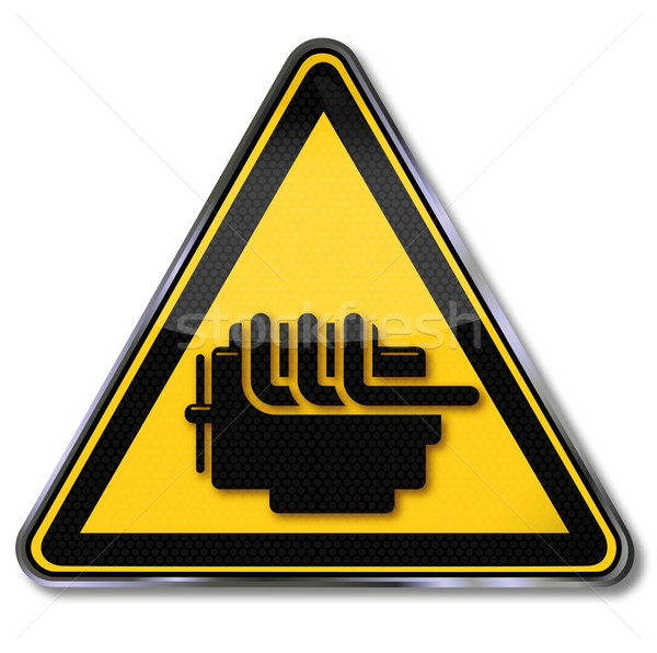 Warning sign engine damage and engine design Stock photo © Ustofre9