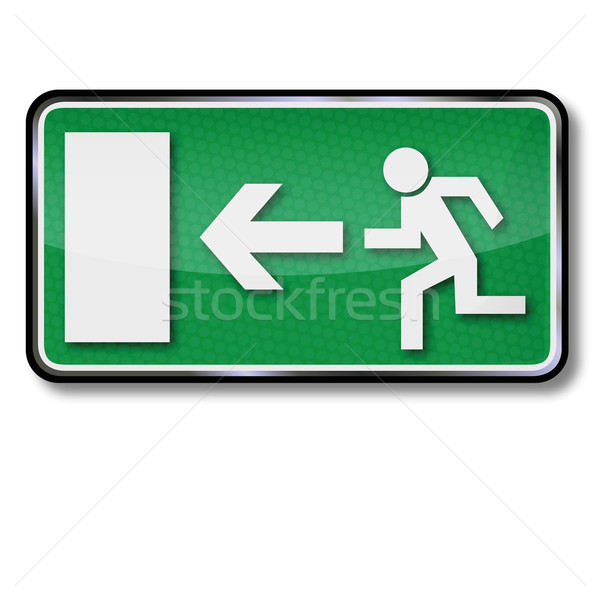 Stock photo: Fire emergency exit sign