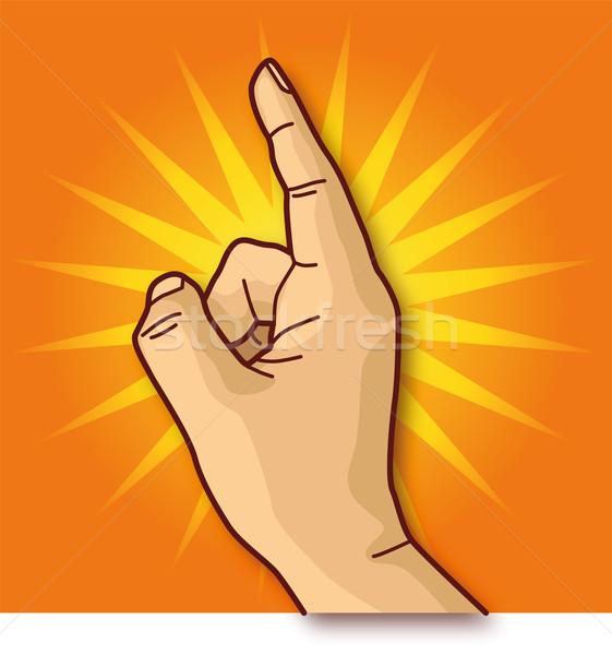 El işaret parmağı iş ofis karikatür satış Stok fotoğraf © Ustofre9