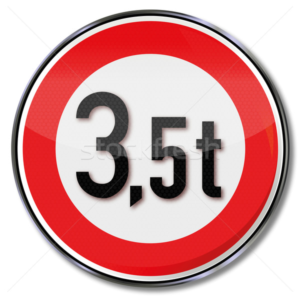 Traffic sign maximum weight of 3.5 tonnes Stock photo © Ustofre9