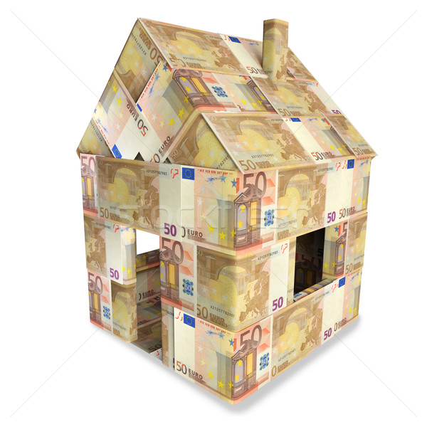 House from 50 euro notes  Stock photo © Ustofre9