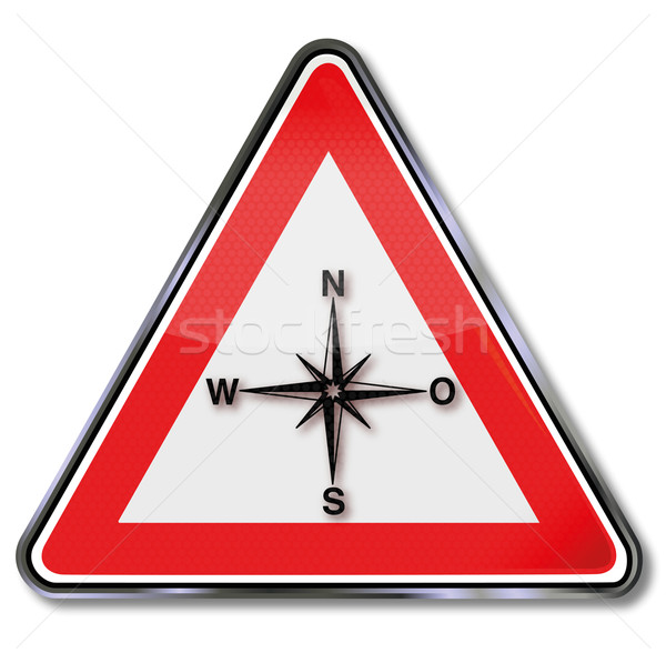 Sign compass, compass rose, indicating the direction and orientation Stock photo © Ustofre9