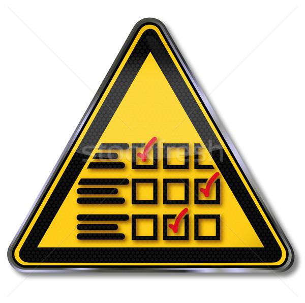 Signe questionnaire droit science plaque signes Photo stock © Ustofre9