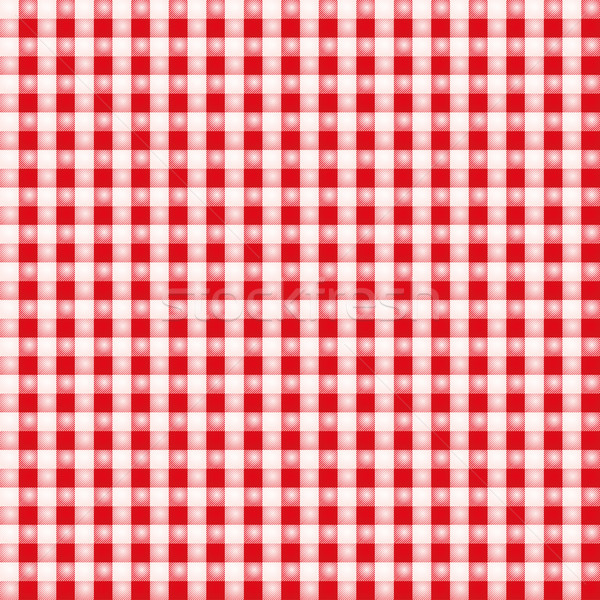 Small red eyed white fabric with checks Stock photo © Ustofre9