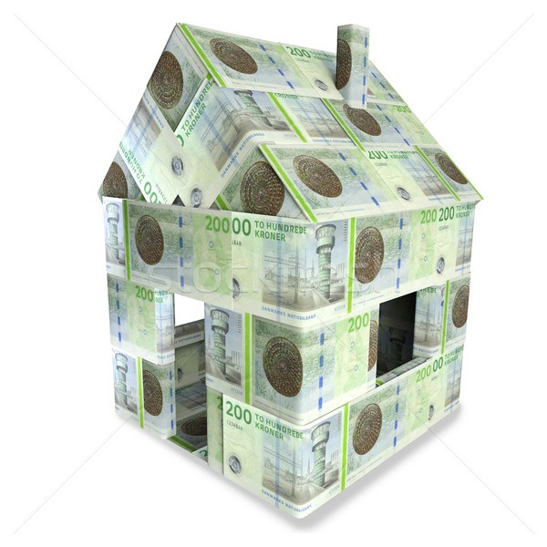 House of 200 Danish kroner Stock photo © Ustofre9