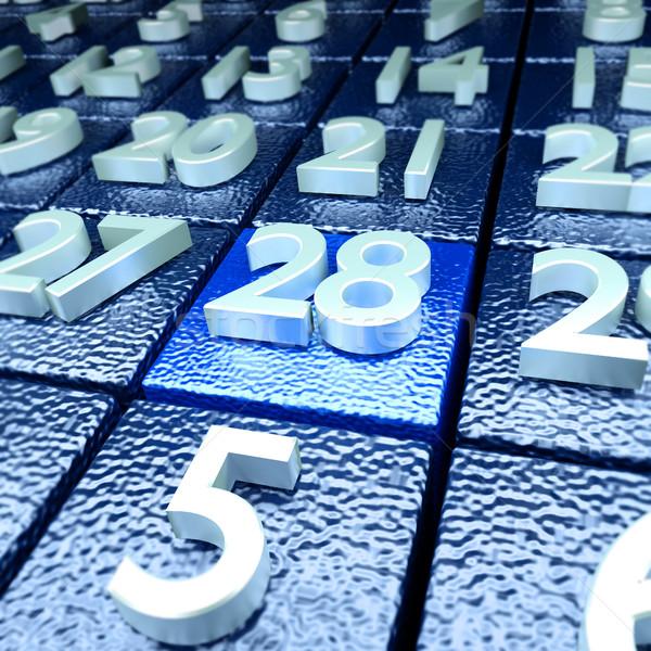 Calendario día nombramiento escuela reunión maestro Foto stock © Ustofre9