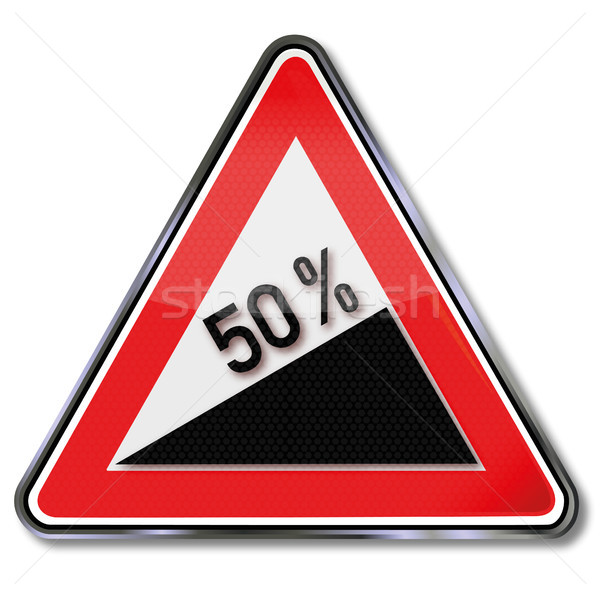 Traffic sign 50 percent increase Stock photo © Ustofre9