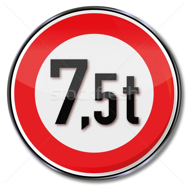 Trafik işareti maksimum ağırlık araba sokak imzalamak Stok fotoğraf © Ustofre9