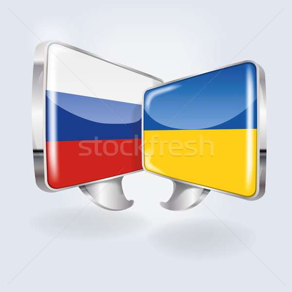 Bubbles with Russia and Ukraine  Stock photo © Ustofre9