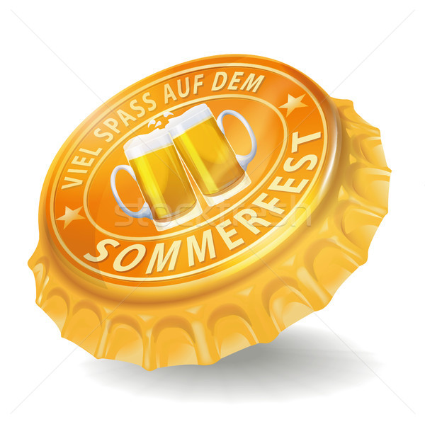 Bottle cap and summer party Stock photo © Ustofre9