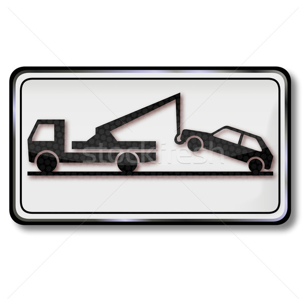 Sign towing the car and Trailers Stock photo © Ustofre9