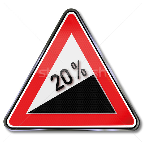 Traffic sign 20 percent ascent Stock photo © Ustofre9
