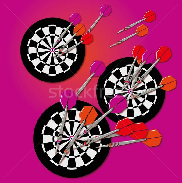 Darts darts tábla üzlet térkép háttér klasszikus Stock fotó © Ustofre9