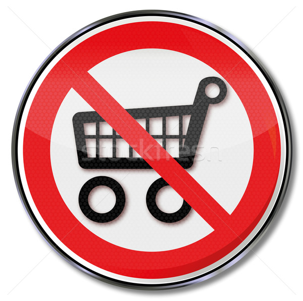 Prohibition sign for shopping carts and shopping  Stock photo © Ustofre9