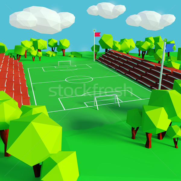 Stock photo: Soccer and sports field