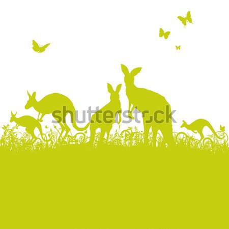 Blades of grass and giraffes in Africa Stock photo © Ustofre9