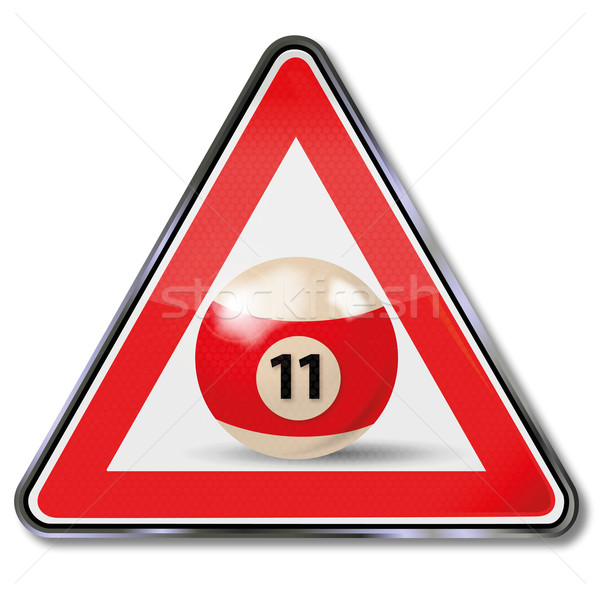 Sign billiard ball number 11 Stock photo © Ustofre9