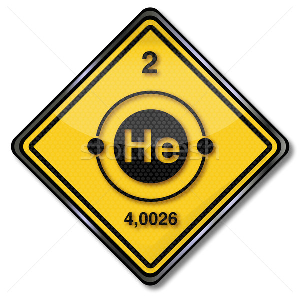 Sign chemistry character helium Stock photo © Ustofre9