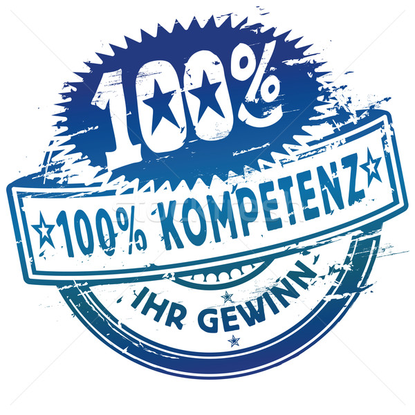 Rubber stamp 100% competence Stock photo © Ustofre9