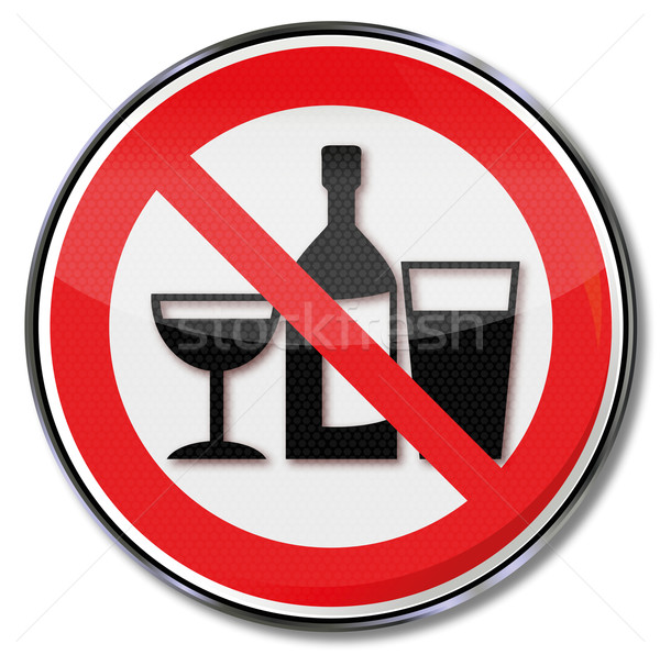 Prohibition sign no drinking in these rooms  Stock photo © Ustofre9