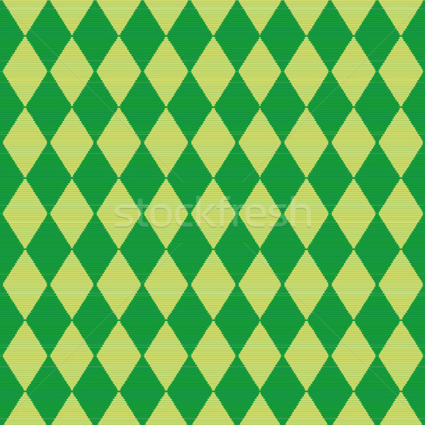Tablecloth and cloth with green diamond pattern  Stock photo © Ustofre9