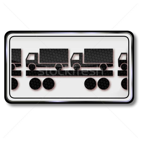 Felirat vagon vonat teherautó utca törvény Stock fotó © Ustofre9