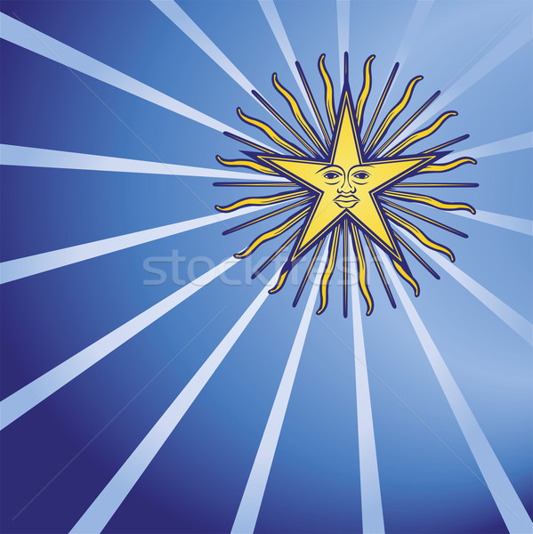 Star in the dark blue sky  Stock photo © Ustofre9
