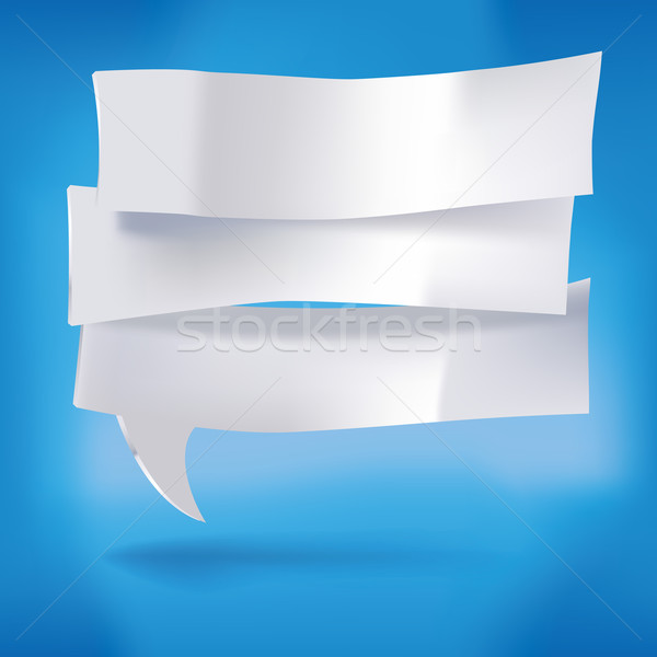 Stock photo: Three paper labels as speech bubbles