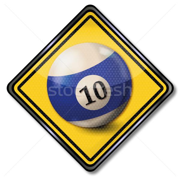 Сток-фото: щит · синий · белый · бассейна · бильярдных · мяча