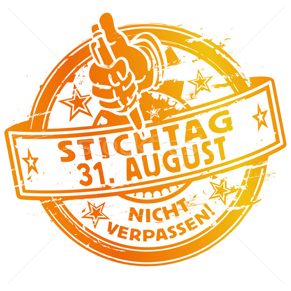 Rubber stamp with the date August 31. Stock photo © Ustofre9