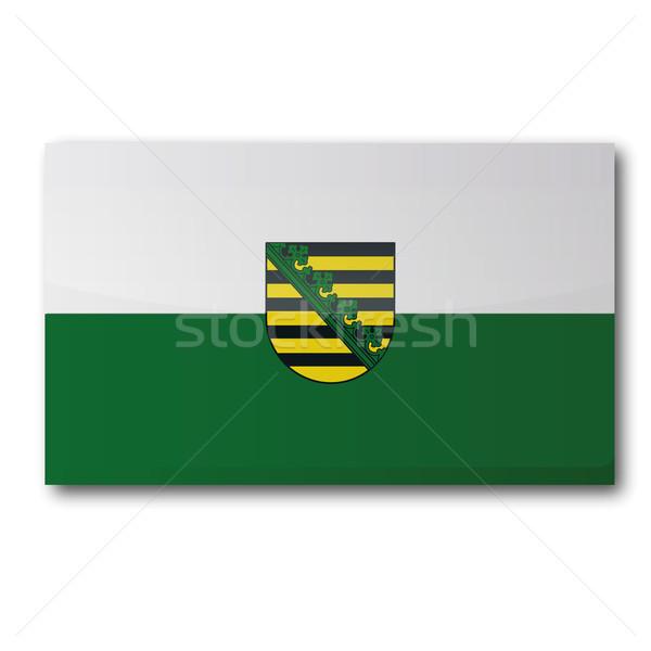 Flag Saxony Stock photo © Ustofre9