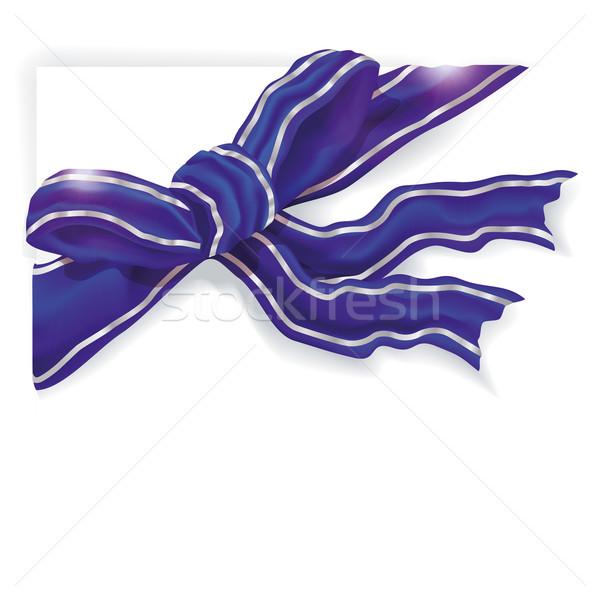 Blue gift ribbon Stock photo © Ustofre9